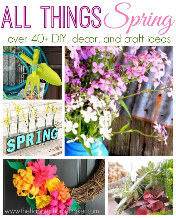 50 springtime crafts, DIYs, and recipes!!