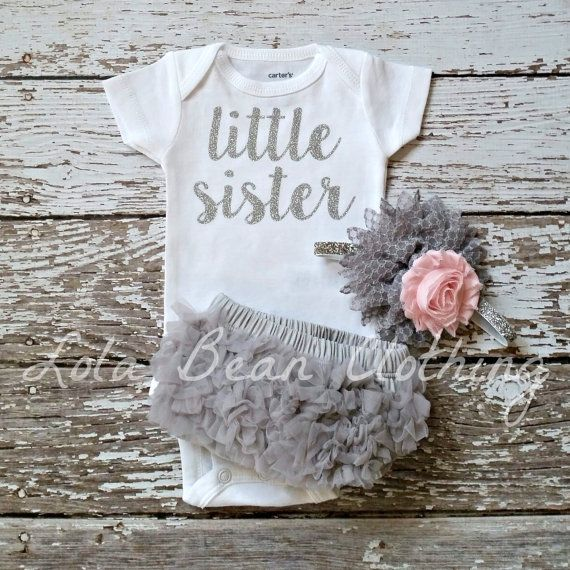 PRE ORDER Baby Girl Take Home Outfit Newborn by LolaBeanClothing