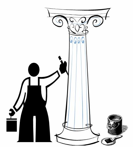 Make sure you paint your fiberglass columns correctly! Use these instructions and get it right the first time!