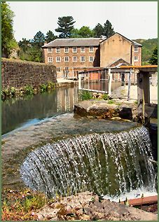 The Masson Mill in Cromford, Derwent Valley, England. Built in 1783