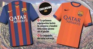 Uniformes do Barça para a próxima temporada - http://www.colecaodecamisas.com/uniformes-barcelona-temporada-2014-2015/ #colecaodecamisas #Barcelona, #Nike