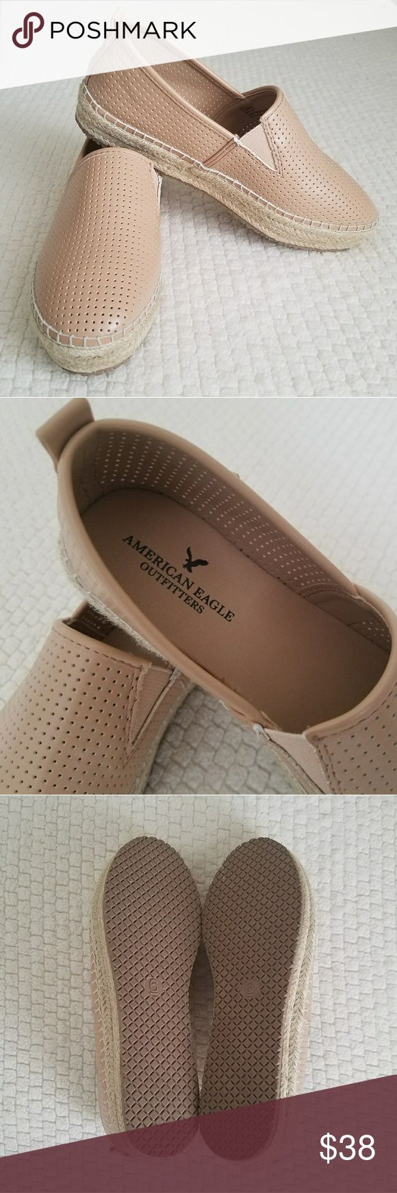 American Eagle Blush Pink Espadrilles Slip Ons True size 6! New - they don't fit me, thought I could squeeze in as a 6.5 but too snug.   Gorgeous blush pink color. No box. American Eagle Outfitters Shoes Espadrilles