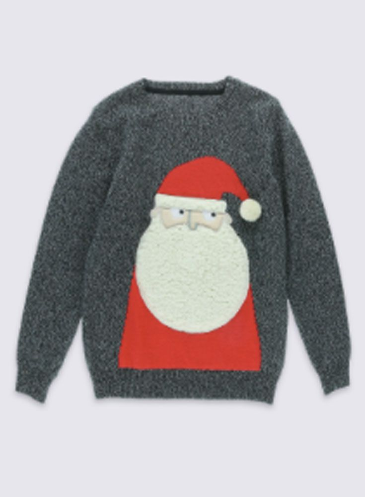 Ho, ho, ho ... we LOVE a novelty Christmas jumper!    Here's our round-up of 10 of the best Santa-themed Christmas jumpers - for you and your kids.