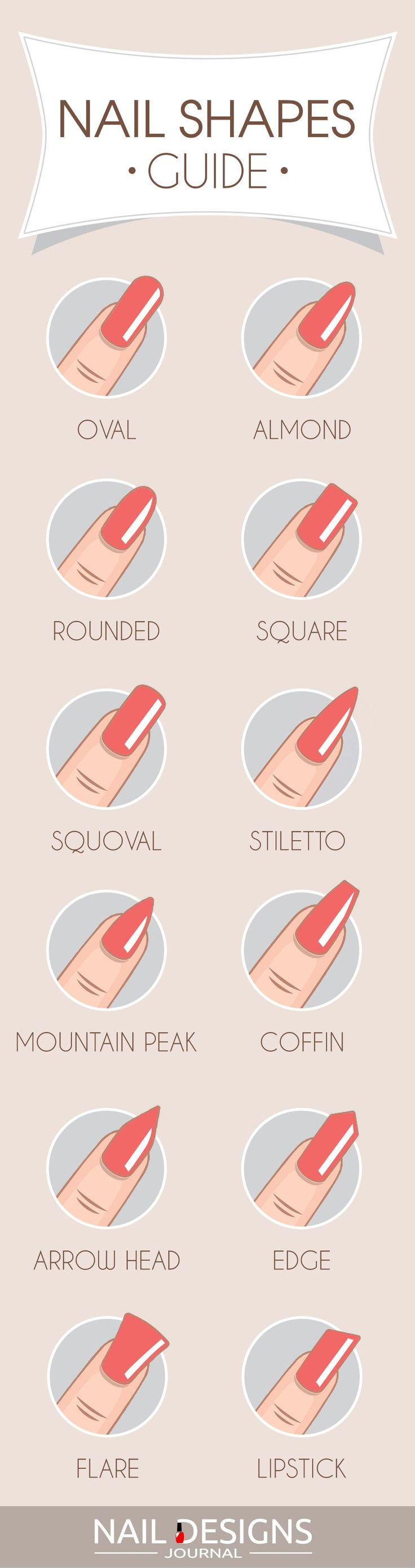 Most Popular And Trendy Nails Shapes For Glamorous Look Acrylics Trendy Nails Different