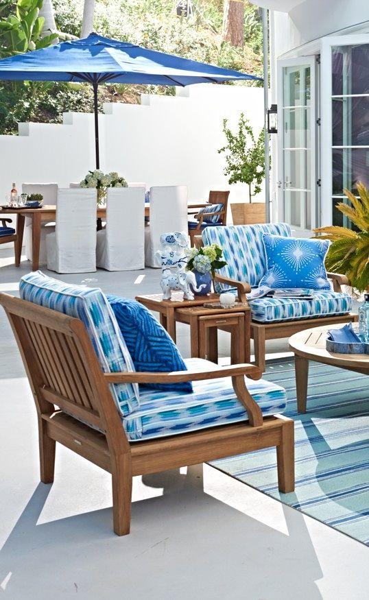 Cara Seating In Natural Finish Beyond The Sea Teak Outdoor Furniture Rooms Living