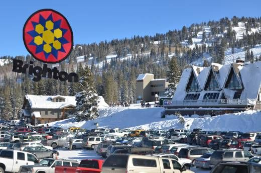Brighton Base Lodge located Big Cottonwood Canyon #utah #ski