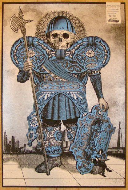 2012 Jack White - London V Concert Poster by Rob Jones