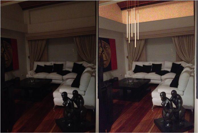 antes y despues propuesta iluminacion.
