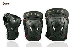 JBM adulte VšŠlo BMX Genouillššres Coudiššres poignet Gardes de protection Gear Set pour VTT, všŠlo, d'šŠquitation, et multi sport & # xff1…