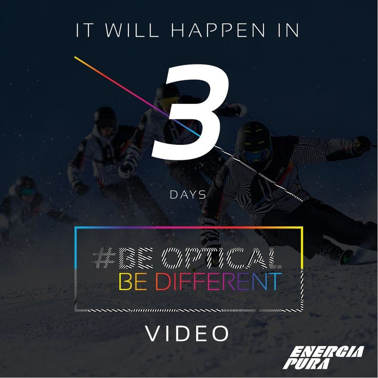 It will happen in 3 DAYS.. BE OPTICAL Official video with #MaxBlardone & ALFA ROMEO. ARE YOU READY? #beopticalbedifferent #3daystogo Watch the official Trailer: Facebook: https://www.facebook.com/energiapuraofficial/videos/1409823222383686/ YouTube:https://www.youtube.com/watch?v=QK3OMq5DO-Y