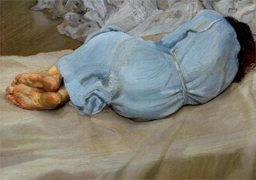 Annabel Sleeping, 1987-1988 - Lucian Freud (British, 1922-2011)