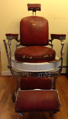 VINTAGE 1910 s KOKEN BARBER CHAIR ANTIQUE SURVIVOR95 best VINTAGE BARBER CHAIRS  images on Pinterest   Barber chair  . Ebay Barber Chairs Used. Home Design Ideas
