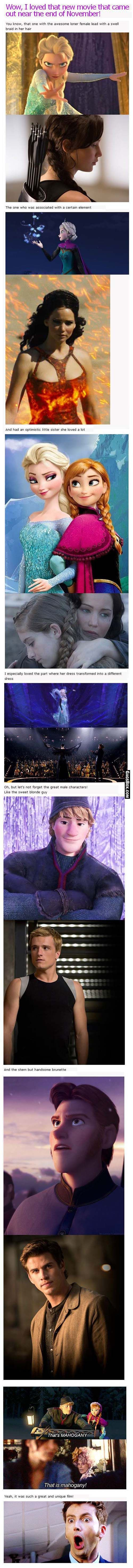 Disney Frozen Movie Vs Hunger Games - two great movies for sisters!