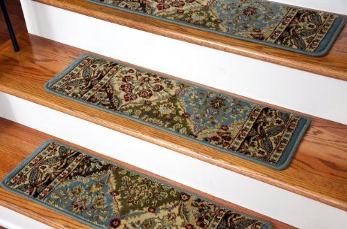 "Dean Premium Carpet Stair Treads - Panel Kerman Cloude Rug Runners 31""W Set of 13 Dean Flooring Company http://www.amazon.com/dp/B00FQLQT94/ref=cm_sw_r_pi_dp_9yziub0K4H5JM"