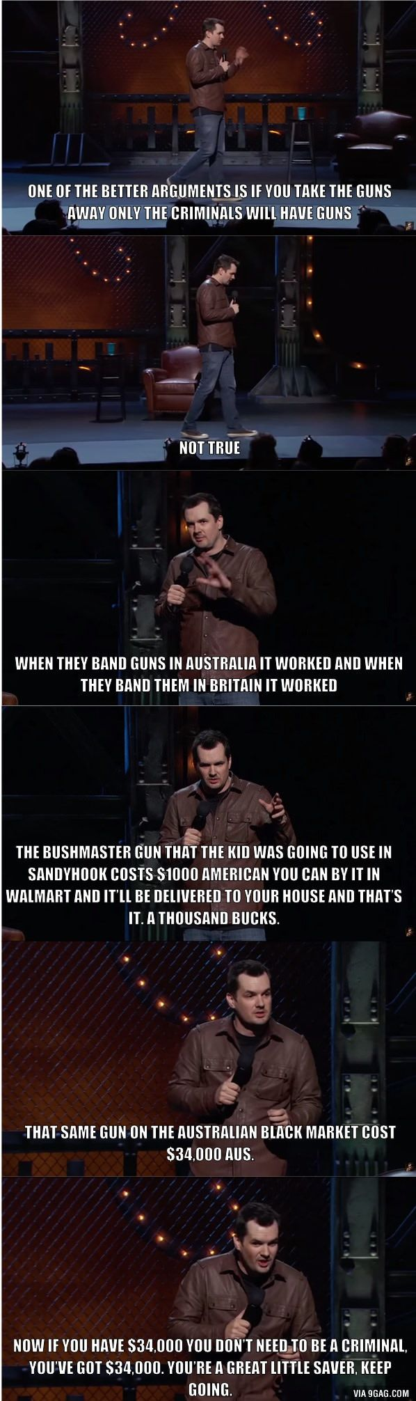 Jim Jefferies nails the gun control argument.