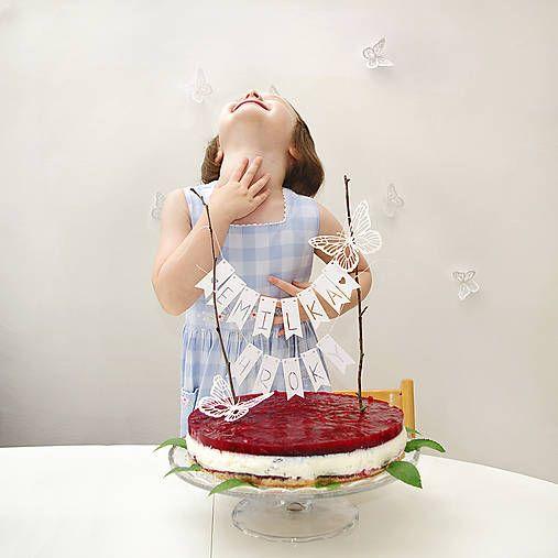 Majestick / VLAJEČKOVÁ girlanda na tortu