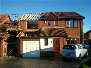 Over garage extension with 2 storey extension at back of house. Also garage convers... | CM Projects