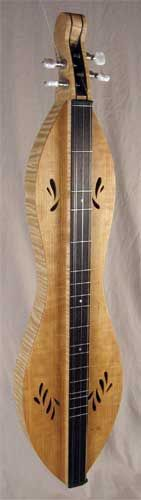 James Jones Instruments - Appalachian Dulcimers | Mahogany soundboard with my soundhole design, Curly Maple back and sides with Wenge fingerboard, Ebony accents and Stew-Mac tuners