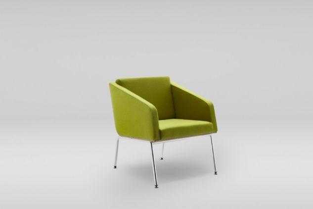 Fotel FIN z podłokietnikami podstawa metalowa #design #chair