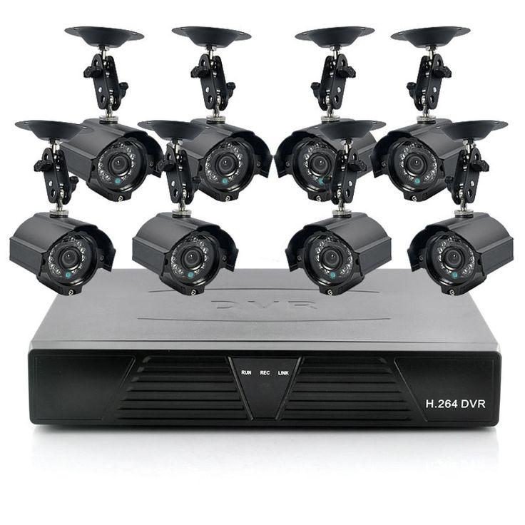 Camera Kit Security 8ch Dvr Cctv System Nvr Outdoor Ip 720p Hd 8Hdmi Home 4ch Ir