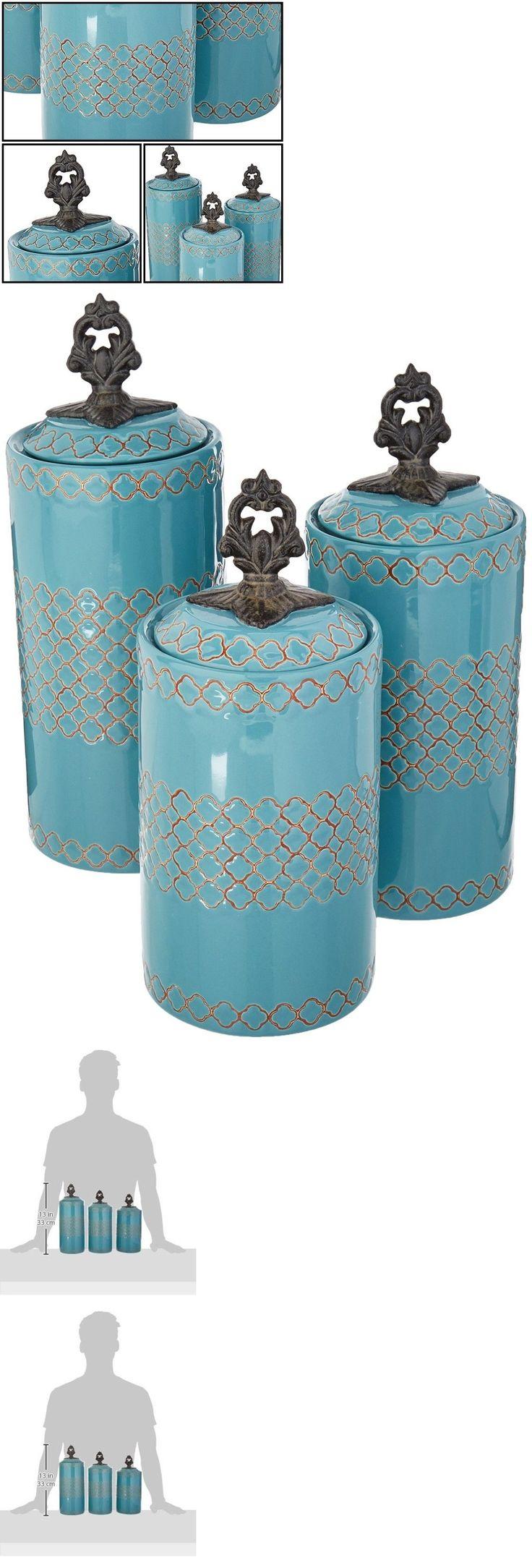 mas de 25 ideas increibles sobre ceramic canister set en pinterest canisters and jars 20654 ceramic canisters set of 3 blue coffee milk bones jar bin