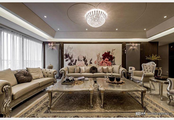 中悅上林苑_古典風設計個案—100裝潢網