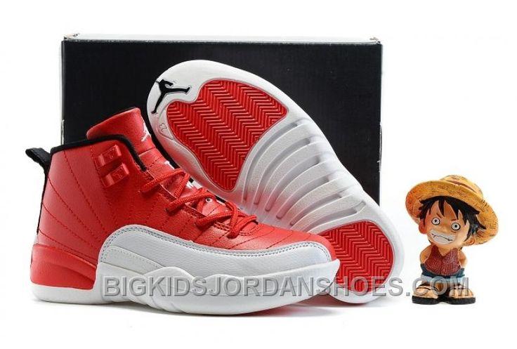 "http://www.bigkidsjordanshoes.com/new-2017-kids-air-jordan-12-gym-red-basketball-shoes.html 2017 KIDS AIR JORDAN 12 ""GYM RED"" BASKETBALL SHOES DISCOUNT Only $85.00 , Free Shipping!"