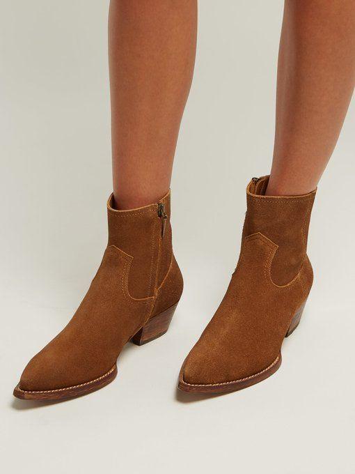 a578e0bab95 Lukas western suede ankle boots | Saint Laurent | MATCHESFASHION.COM ...