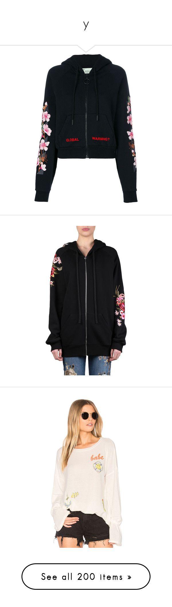 """""""y"""" by blenm ❤ liked on Polyvore featuring tops, hoodies, black, print hoodies, hooded hoodie, urban hoodie, graphic hoodies, streetwear hoodies, sweatshirt hoodies and embroidered hoodie"""