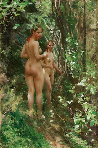 Anders Zorn - The Hinds, 1908 (Bukowski's Auctions, Stockholm)