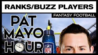 2016 Fantasy Football Rankings Update: Buzz Players, News