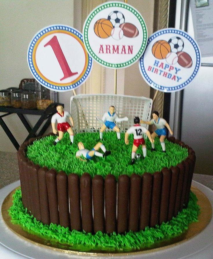 sweetartreats: birthday cake soccer theme