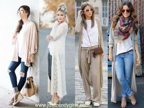 long cardigans looks, Inspiring summer street style looks http://www.justtrendygirls.com/inspiring-summer-street-style-looks/