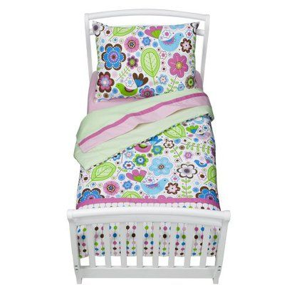 This bedding is so cute for a little girl, just like harlows crib set!