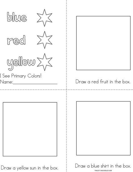 i see primary colors book beginning readers book that you print for kids - Primary Colors Book