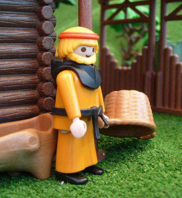 A XI Century Playmobil custom monk. Viking theme