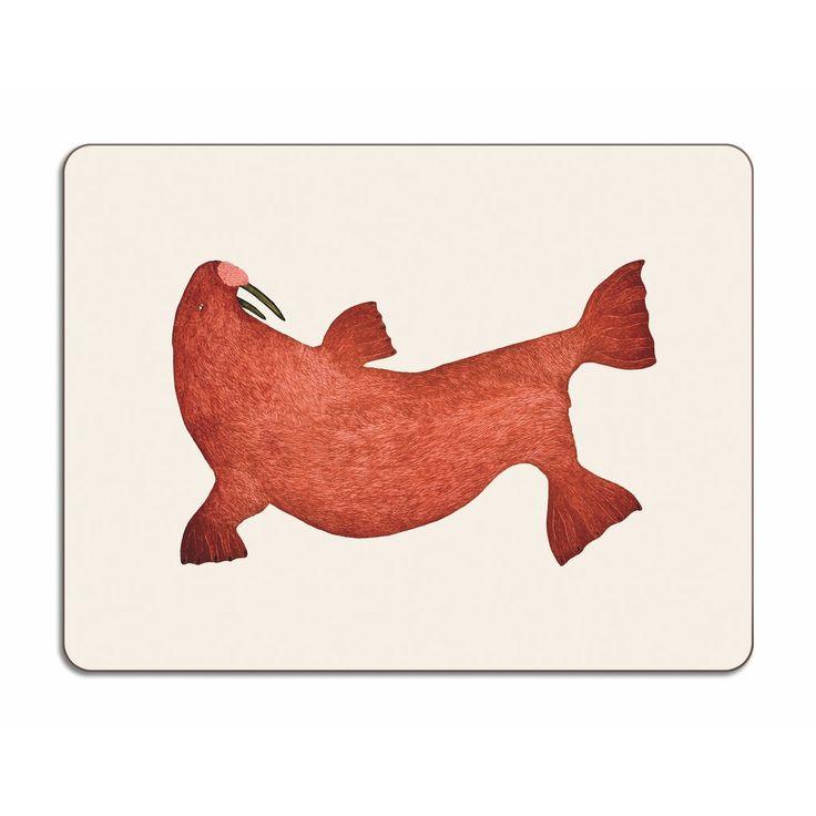 Red Walrus, Tim Pitsiulak, 30x45cm – HOPSON GRACE