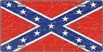 Distressed Confederate Flag Design Novelty License Plate