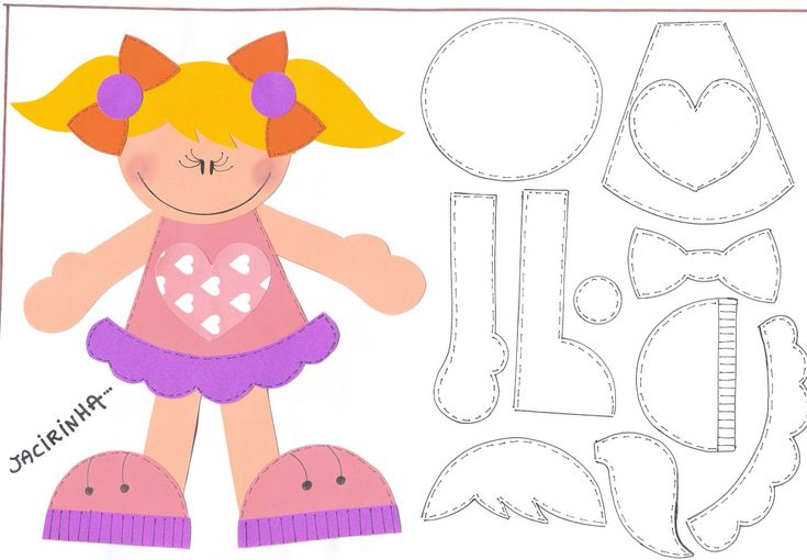 Oficina de Criatividade: Molde presente- Jacirinha: Fofucha Dolls, Goma Eva, Drawings For, For Experiment, Moldings Ems, Ems Eva, Paper Pieces, Felt Τσοχα, Moldings Div