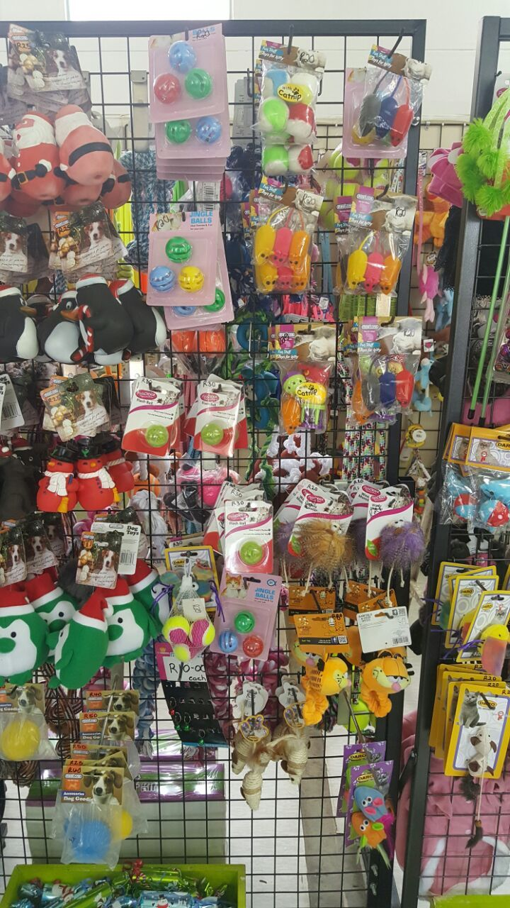 Pick 'n Chew Pet Accessory Shop Goodies  Some of the lovely toys and treats available at our shop...  Johannesburg SPCA 5 Benray Road Reuven  Booysens Tel: 011 681 3600