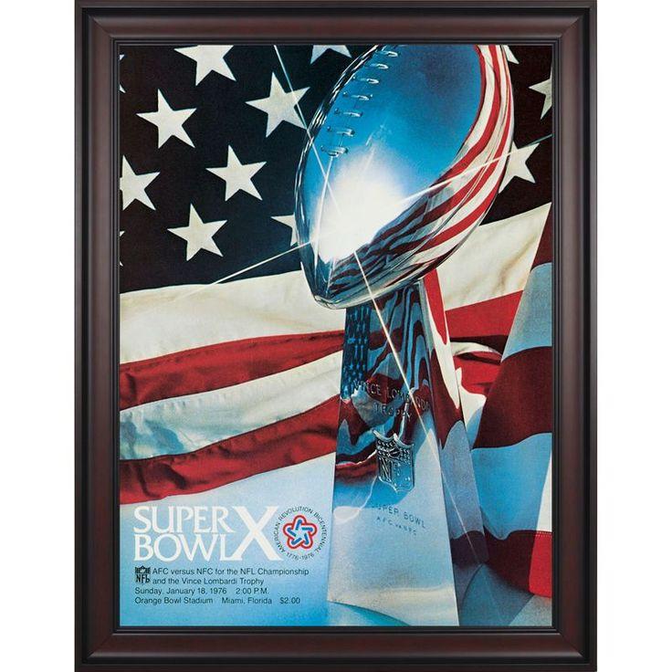 "Fanatics Authentic 1976 Steelers vs. Cowboys Framed 36"" x 48"" Canvas Super Bowl X Program"