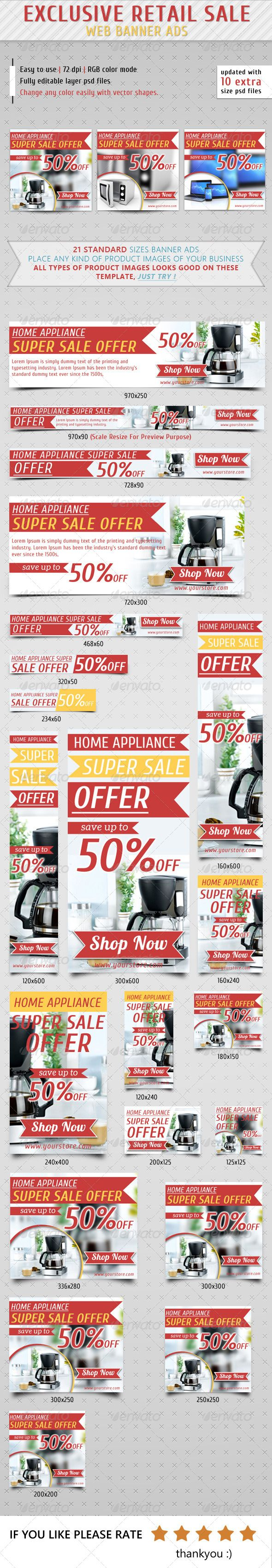 Retail Sale Web Banner Ads Template PSD | Buy and Download: http://graphicriver.net/item/retail-sale-web-banner-ads/7365260?WT.ac=category_thumb&WT.z_author=samiul75&ref=ksioks
