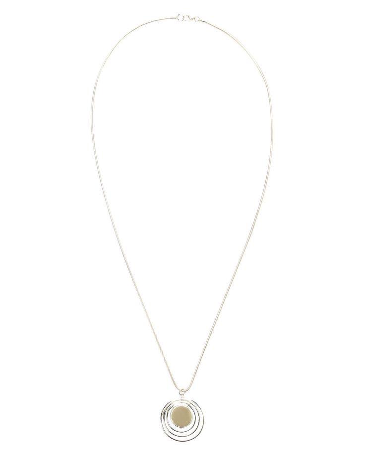 Phase Eight Angelica Pendant Necklace Metallics