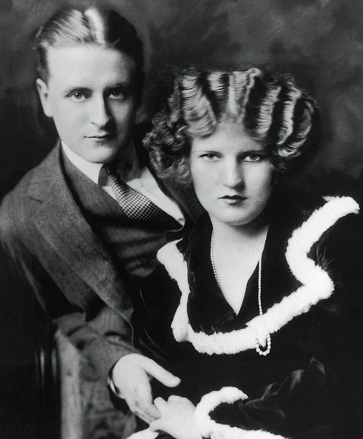 "F. Scott Fitzgerald, author of ""The Great Gatsby"", and his flapper wife, Zelda."