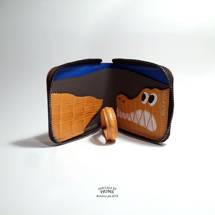 Zipper wallet. Heritage by Huns 2015. www.Etsy.com/shop/heritagebyhuns