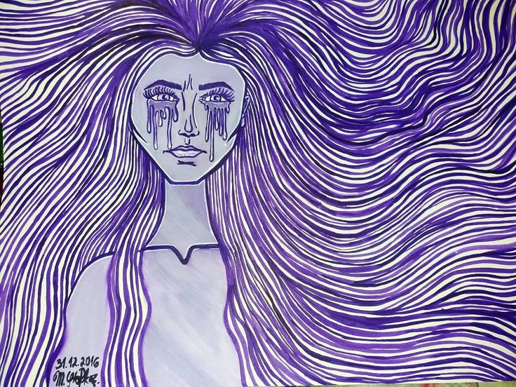 """""""You were red and you liked me cause I was blue. You touched me and suddenly I was a lilac sky and you decided PURPLE just wasn't for you."""" ❤  I wanted to do some drawing inspired by the lyrics of song Colors by Halsey since I first heard it and now I finally got around to do it. I wanted to add some flowers in her hair but I don't want to ruin it so idk. What do you think?     IG: @maggie_creates_"""