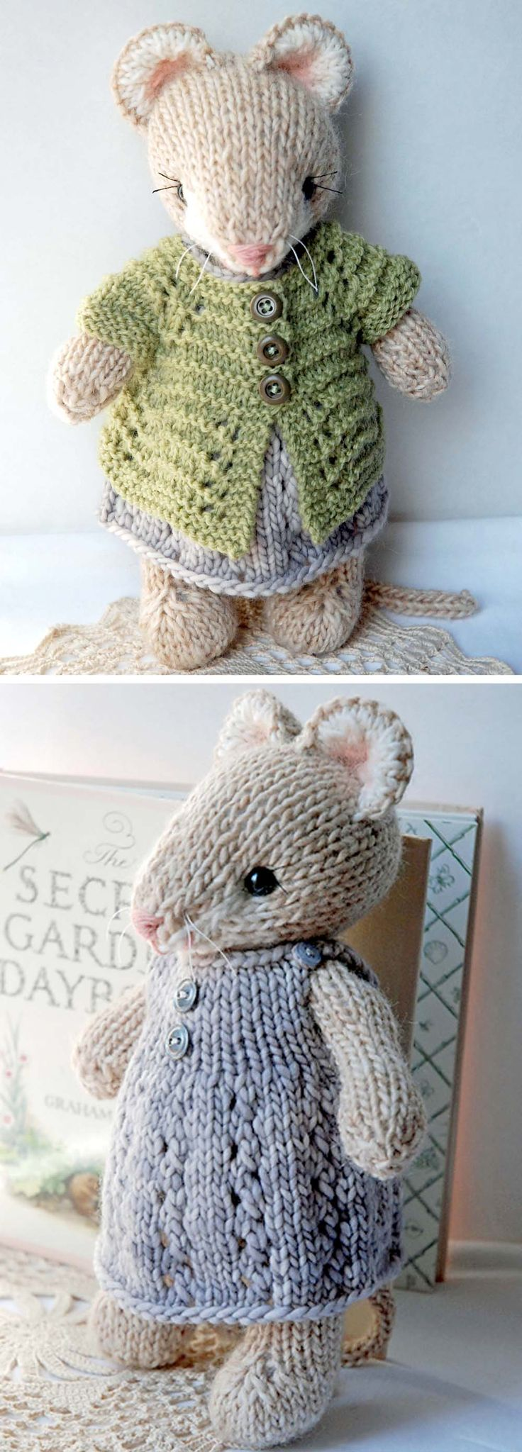 Cute Knitted Mouse – Knitting Pattern – Handarbeiten