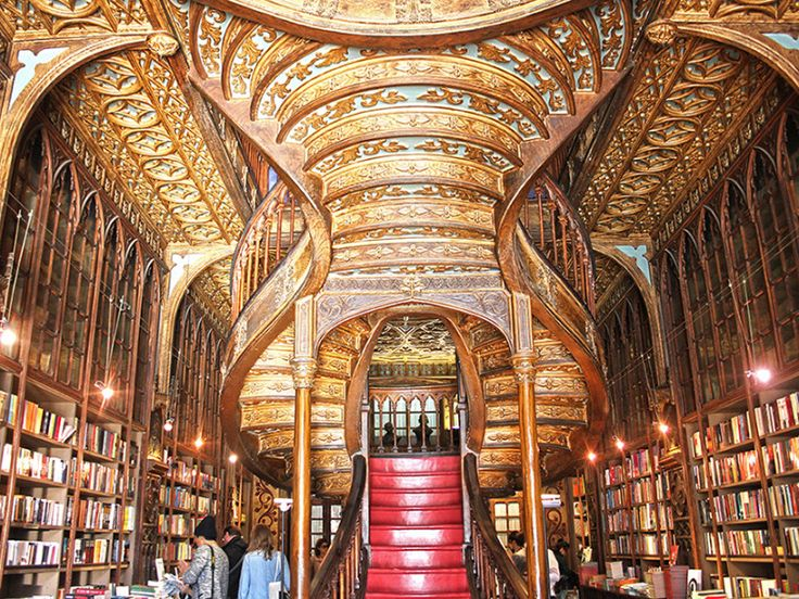 """Be inspired at Livraria Lello, one of the world's most beautiful bookshops."" Via Porto: The Land of Friendly People - The Culture Map"