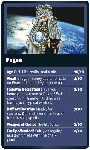 God Trumps Pagan card