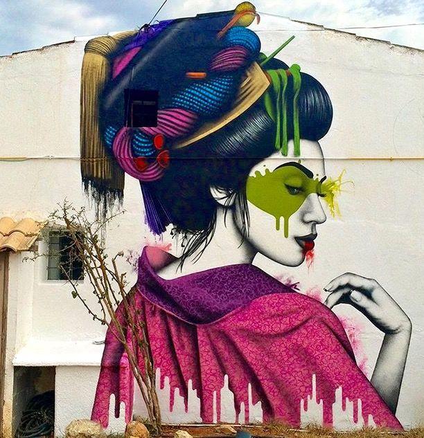 """Melnagai"" by Fin Dac in Ibiza, Spain."